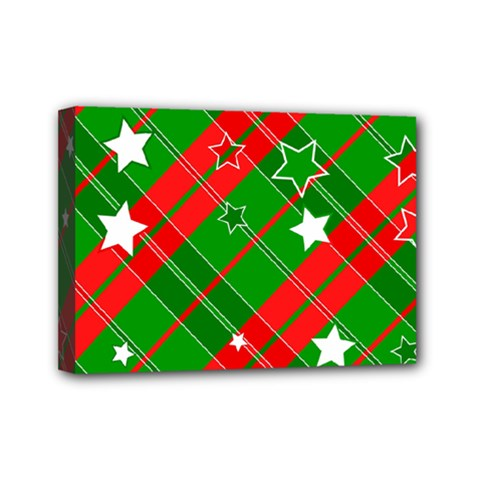 Background Abstract Christmas Mini Canvas 7  x 5