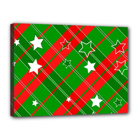 Background Abstract Christmas Canvas 16  x 12