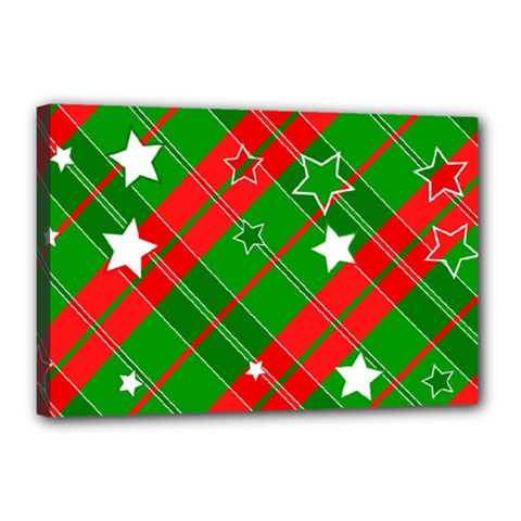 Background Abstract Christmas Canvas 18  x 12