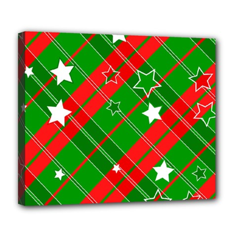 Background Abstract Christmas Deluxe Canvas 24  x 20