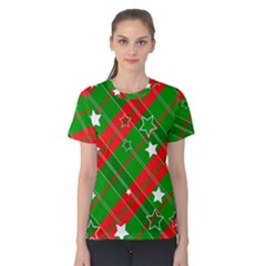 Background Abstract Christmas Women s Cotton Tee