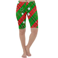 Background Abstract Christmas Cropped Leggings