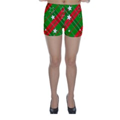 Background Abstract Christmas Skinny Shorts