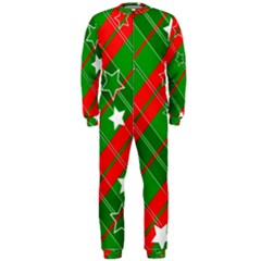 Background Abstract Christmas OnePiece Jumpsuit (Men)