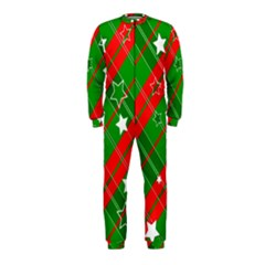 Background Abstract Christmas OnePiece Jumpsuit (Kids)