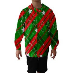 Background Abstract Christmas Hooded Wind Breaker (kids)