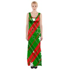Background Abstract Christmas Maxi Thigh Split Dress