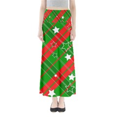Background Abstract Christmas Maxi Skirts