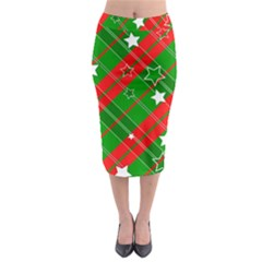 Background Abstract Christmas Midi Pencil Skirt