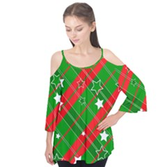 Background Abstract Christmas Flutter Tees