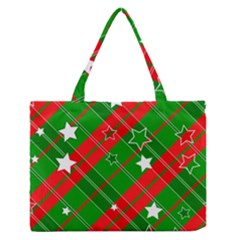 Background Abstract Christmas Medium Zipper Tote Bag