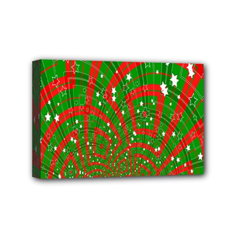 Background Abstract Christmas Pattern Mini Canvas 6  x 4
