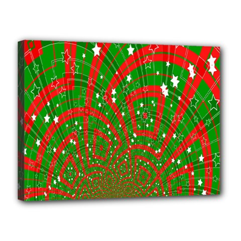 Background Abstract Christmas Pattern Canvas 16  x 12