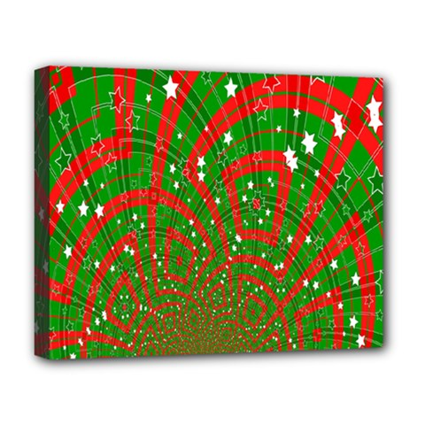 Background Abstract Christmas Pattern Deluxe Canvas 20  x 16