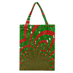 Background Abstract Christmas Pattern Classic Tote Bag