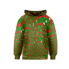 Background Abstract Christmas Pattern Kids  Pullover Hoodie