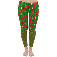 Background Abstract Christmas Pattern Classic Winter Leggings