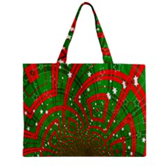 Background Abstract Christmas Pattern Zipper Mini Tote Bag
