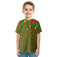 Background Abstract Christmas Pattern Kids  Sport Mesh Tee