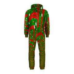 Background Abstract Christmas Pattern Hooded Jumpsuit (kids)