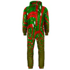 Background Abstract Christmas Pattern Hooded Jumpsuit (Men)