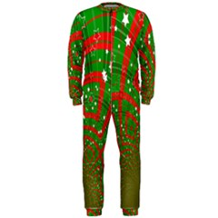 Background Abstract Christmas Pattern Onepiece Jumpsuit (men)