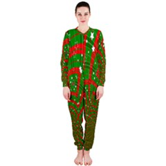 Background Abstract Christmas Pattern Onepiece Jumpsuit (ladies)