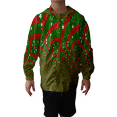 Background Abstract Christmas Pattern Hooded Wind Breaker (Kids)