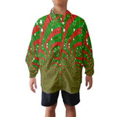 Background Abstract Christmas Pattern Wind Breaker (kids)