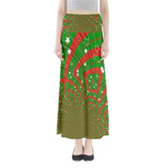 Background Abstract Christmas Pattern Maxi Skirts