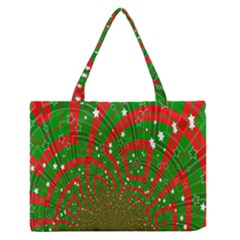 Background Abstract Christmas Pattern Medium Zipper Tote Bag