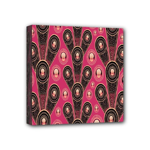 Background Abstract Pattern Mini Canvas 4  X 4