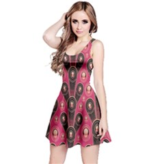 Background Abstract Pattern Reversible Sleeveless Dress