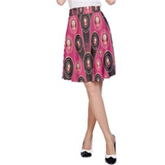 Background Abstract Pattern A-Line Skirt