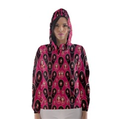 Background Abstract Pattern Hooded Wind Breaker (Women)