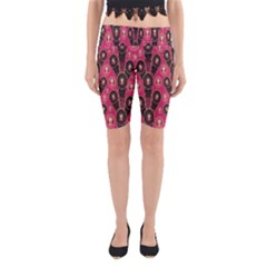 Background Abstract Pattern Yoga Cropped Leggings
