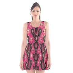 Background Abstract Pattern Scoop Neck Skater Dress