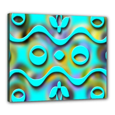 Background Braid Fantasy Blue Canvas 24  X 20