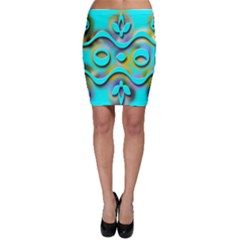 Background Braid Fantasy Blue Bodycon Skirt
