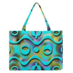 Background Braid Fantasy Blue Medium Zipper Tote Bag
