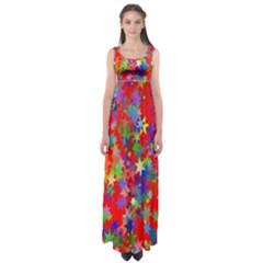 Background Celebration Christmas Empire Waist Maxi Dress