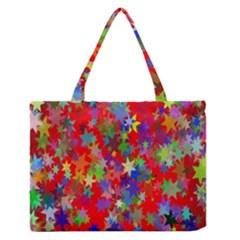 Background Celebration Christmas Medium Zipper Tote Bag