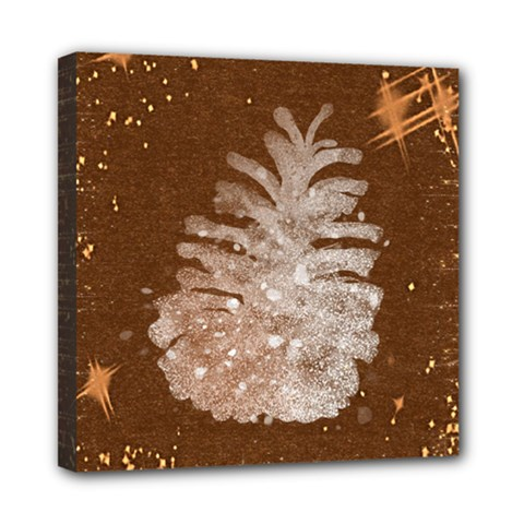 Background Christmas Tree Christmas Mini Canvas 8  X 8