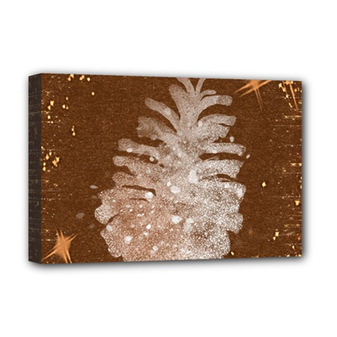 Background Christmas Tree Christmas Deluxe Canvas 18  x 12