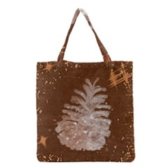 Background Christmas Tree Christmas Grocery Tote Bag