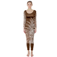 Background Christmas Tree Christmas Long Sleeve Catsuit