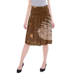 Background Christmas Tree Christmas Midi Beach Skirt