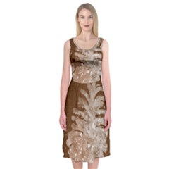 Background Christmas Tree Christmas Midi Sleeveless Dress