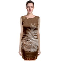 Background Christmas Tree Christmas Classic Sleeveless Midi Dress