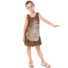 Background Christmas Tree Christmas Kids  Sleeveless Dress